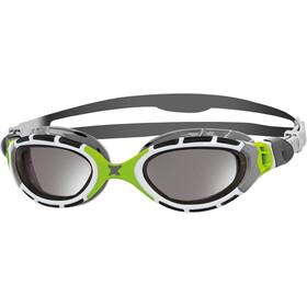 Zoggs Predator Flex Goggle Titanium Grey/Green/Mirror